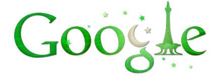 Google Logo: 2011 Pakistan Independence Day
