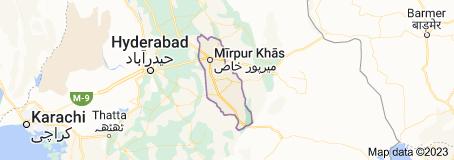 Map of Mirpur Khas District
