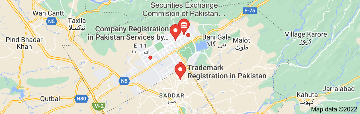 Map of Company Registration in Pakistan